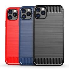 Силиконовый мягкий чехол для iPhone X, XR, XS, 11 Pro, max, чехол из углеродного волокна для iPhone 6, 6s, 7, 8 plus, матовый чехол