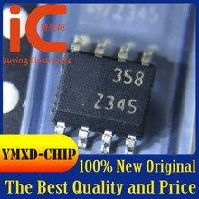 10 pçs/lote novo original lm358dt lm358adt impressão de tela seda 358 358a remendo sop8 chip amplificador operacional em estoque