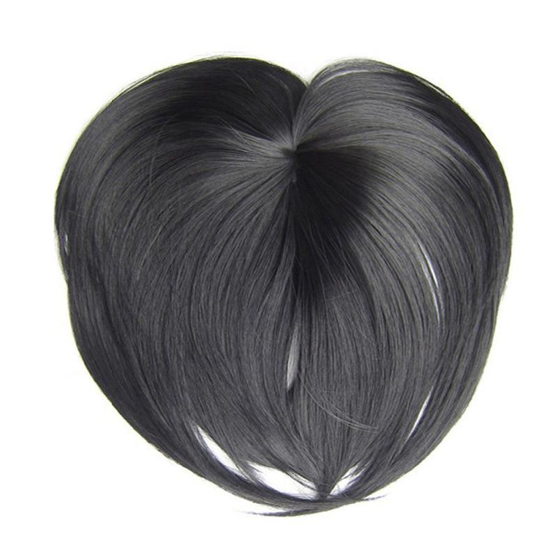 Aplique de cabelo sintético, 18 cores, prato de cabelo sintético, preto, resistente ao calor, curto, loira castanha, fecho