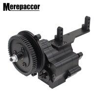 Metall CNC Chassis/Getriebe Box Transfer Fall Center Getriebe Getriebe Fall 2 Geschwindigkeit für 1/10 Axial SCX10 Wraith 90018 RC Crawler
