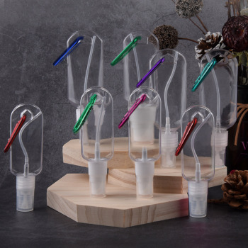 10pcs Empty Hand Sanitizer Bottles Leakproof Travel Fine Mist Spray Bottle with Keychain for Alcohol Toiletries Liquid Soap