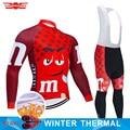 7 colores de invierno Ciclismo Jersey conjunto MTB Ropa de bicicleta divertida Ropa de hombre Ropa de Ciclismo térmico polar Ropa de bicicleta de Ciclismo largo desgaste
