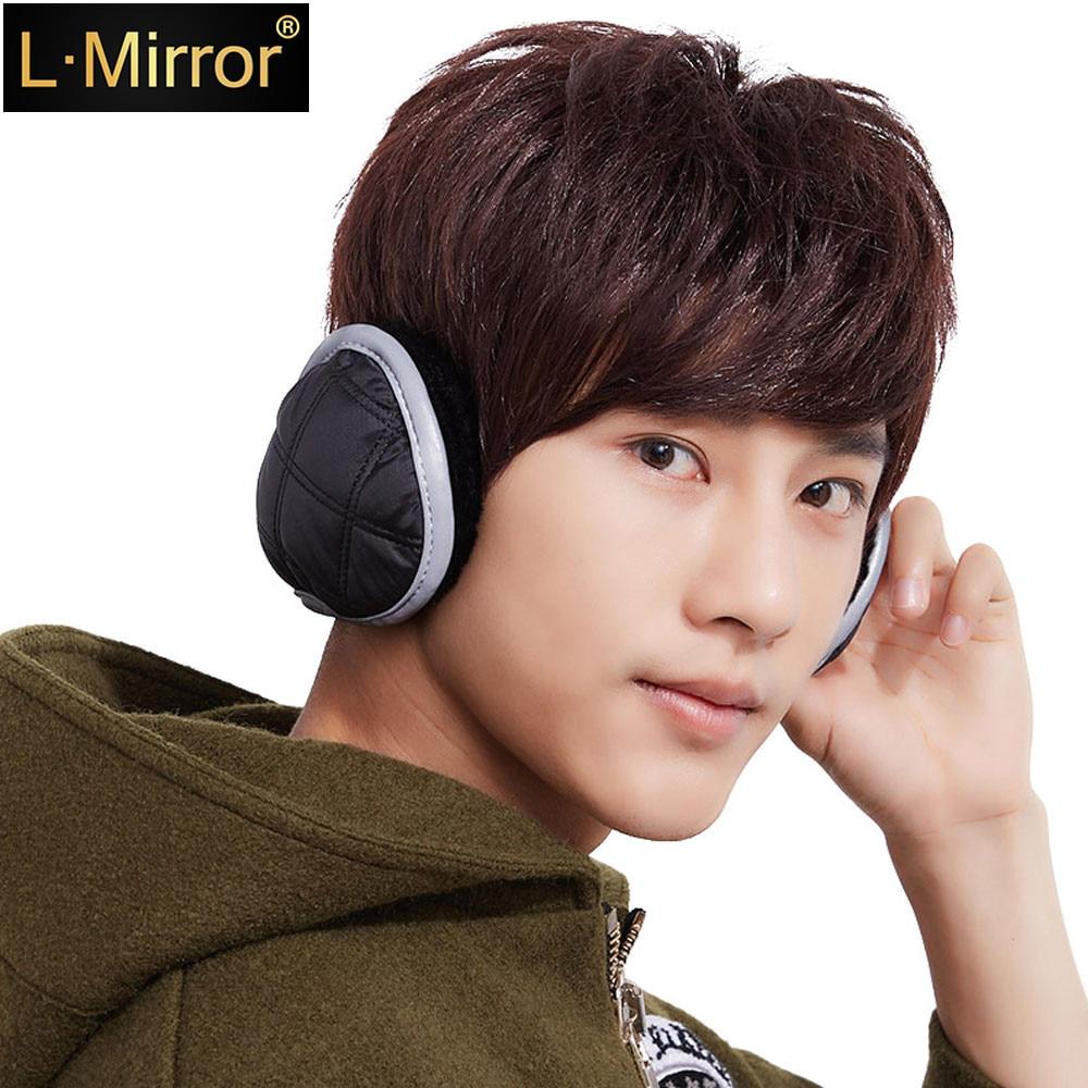 L.Mirror 1Pcs Unisex Warm  Reflective Winter Earmuffs Neck Protection Adjustable Wrap