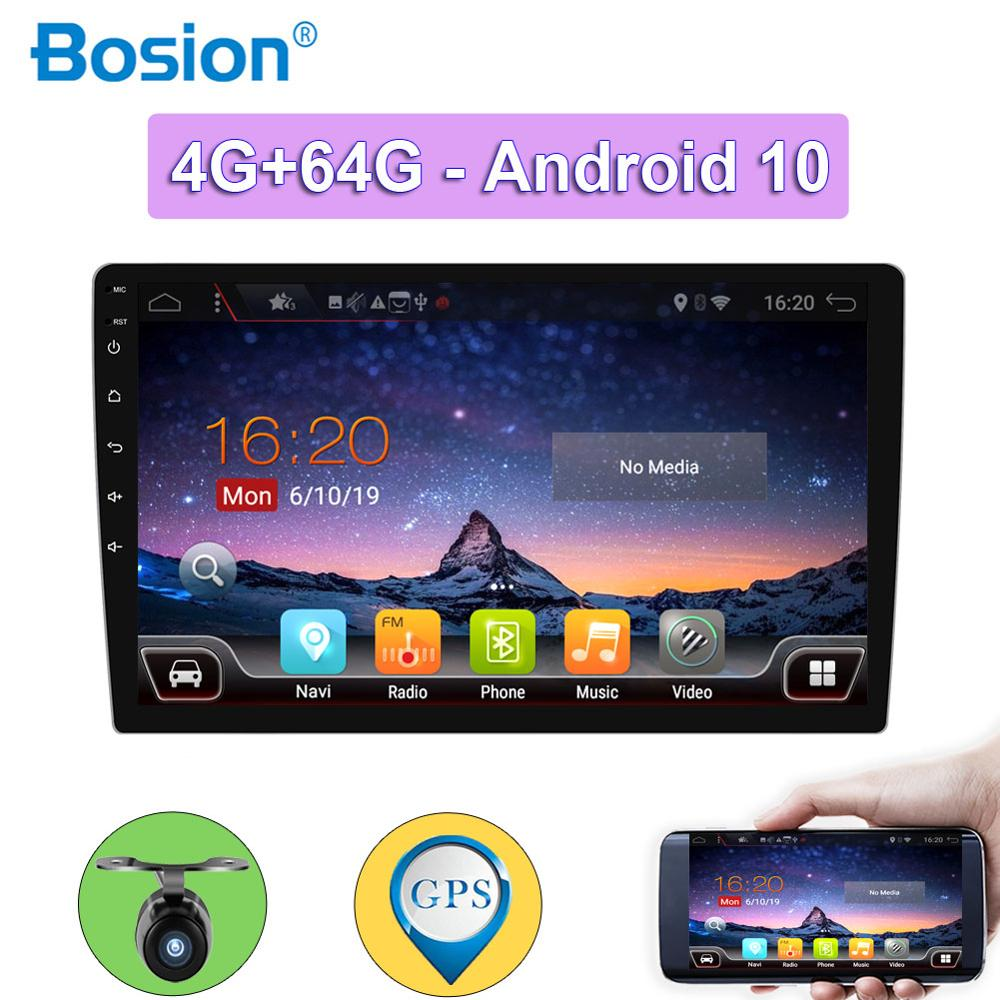 4G+64G car stereo autoradio 1 din for Univesal android 10.0 wifi swc aux hdmi BT camera cassette tape recorder player image