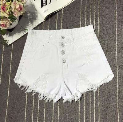 female fashion casual summer cool women denim booty Shorts high waists fur-lined leg-openings Plus size sexy short Jeans 10