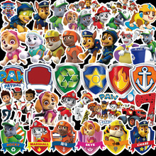 Paw patrol toys set patrol dog Stickers toy PVC graffiti Paw patrol stickers Patrulla Canina Action Figures Toy Children Gifts paw patrol four generations of upgraded pvc material snow dog beads bevel off road small grams of deformable catapult toy childr