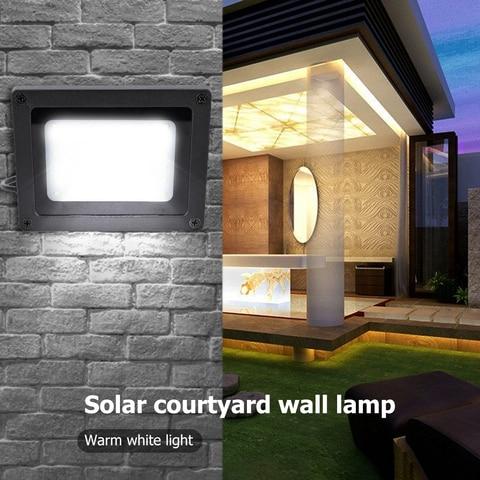 ip65 a prova dwaterproof agua conduziu a lampada solar ao ar livre jardim rua parede