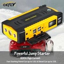 GKFLY סופר כוח 16000mAh החל מכשיר 12V רכב קפיצת Starter כוח בנק רכב סוללה בוסטרים מטען עבור בנזין דיזל CE