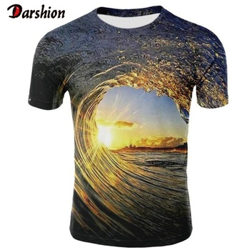 New Casual  Men 3D T-shirt Casual Short Sleeve O-Neck Fashion Nature Sea Printed 3D T-shirt Men Tees High Quality Brand Clothing swicci men s summer loose short sleeve tees brand female print solid color o neck t shirts madam comfortable high quality casual