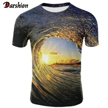 New Casual Men 3D T-shirt Casual Short Sleeve O-Neck Fashion