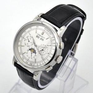 Image 1 - 42 Moon Phase watch men Week calendar year month automatic mechanical часы мужские механические montre homme 316L Stainless stee