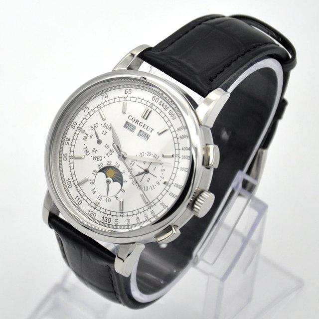 42 Moon Phase watch men Week calendar year month automatic mechanical часы мужские механические montre homme 316L Stainless stee