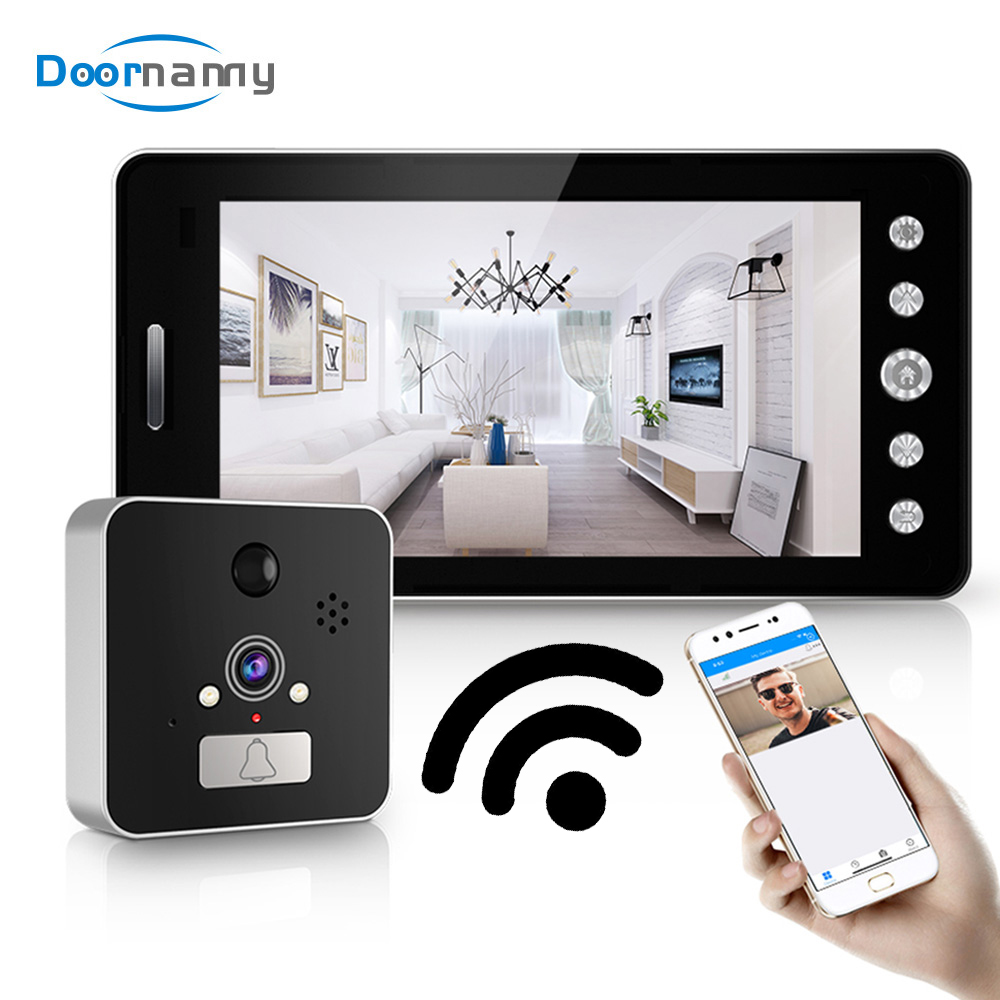Doornanny 1080P Wireless Video Intercom For Home Apartment Night Vision APP Remote Control Intelligence Doorbell System