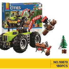 180 pçs cidade selva floresta trator bela figura bloco de construção brinquedos compatíveis com lepining 10870 figura tijolos brinquedo crianças presente