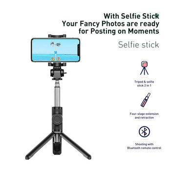 Baseus Wireless Bluetooth Selfie Stick for IOS Android Phone Foldable Handheld Monopod Shutter Remote Extendable Mini Tripod 2
