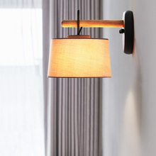 Modern Creative LED Cloth Study Bedroom Bedside Lamp Individual Wind Chimes Wall Sconce Living Room Balcony Decorative Luminaria