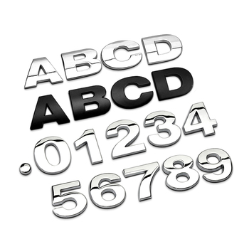 3D Metal Alphabet Badge Numbers Logo for Volkswagen VW Passat b6 b8 b5 b7 Golf 4 5 6 mk7 mk6 mk3 t5 t6 polo tiguan cc je image