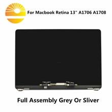 """Przestrzeń szary Sliver A1706 A1708 wyświetlacz LCD ekran zgromadzenia dla Macbook Retina 13 """"A1706 A1708 pełna LCD 2016 2017 rok"""