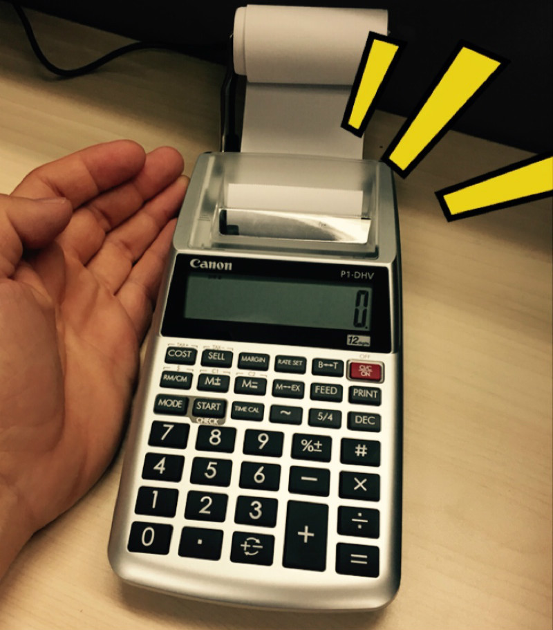 Paper Output Calculator Bank Accounting Financial Printing Computer Authentic P1dhvg Ink Wheel Monochromatic Printing Calculator image