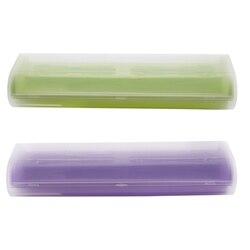 2 sztuk przenośne elektryczne uchwyt na szczoteczki do zębów Case Box Travel Camping dla oral b 4 kolory  fioletowy i zielony w Elektryczne szczoteczki do zębów od AGD na
