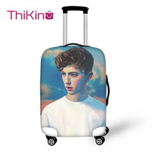 Thikin Troye Sivan Travel Luggage Cover for Girls Cartoon School Trunk Suitcase Protective Bag Protector Jacket