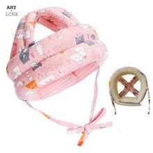 Capacete de segurança do bebê chapéu da criança infantil capacetes aprender a andar chapéus respirável protetor confortável jogar capacete arneses boné