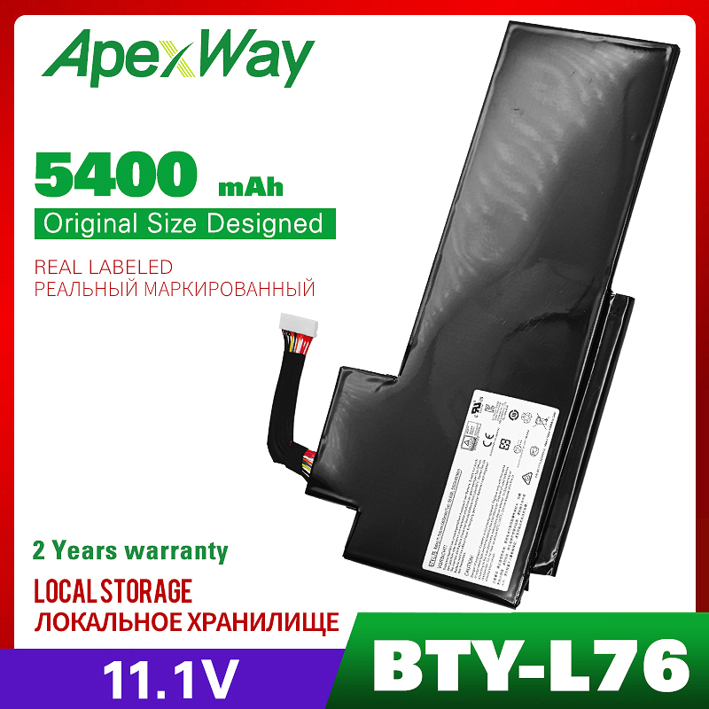 ApexWay 11.1V BTY-L76 Battery For MSI GS70 2OD 2PC 2PE 2QC 2QD 2QE GS72 MS-1771 MS-1772 MS-1773 MS-1774 For MEDION X7613 MD98802