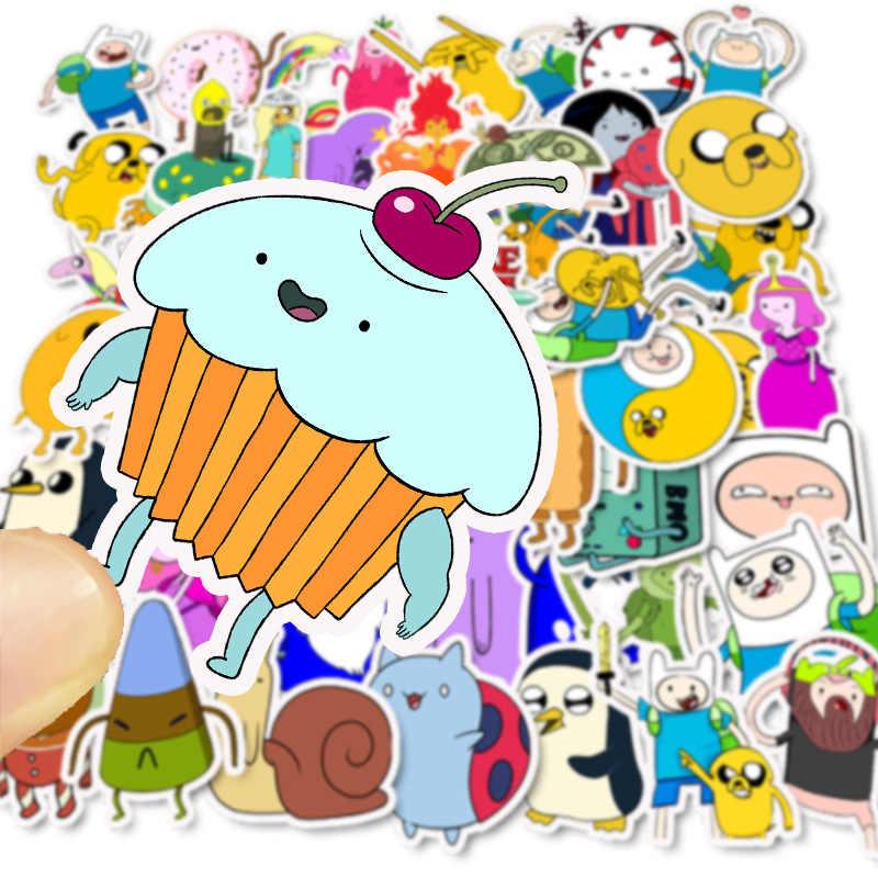 50 قطعة الكرتون مغامرة الوقت ملصقات فتاة مقاوم للماء سكيت حقيبة الغيتار الكتابة على الجدران ملصق يدوي الصنع الأطفال الكلاسيكية لعبة