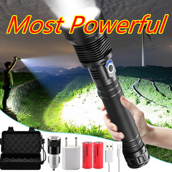 Tactical XHP70.2 LED Flashlight Most Powerful XLamp XHP50 Rechargeable USB Zoom Torch XHP70 18650 26650 Hunting Lamp SelfDefense