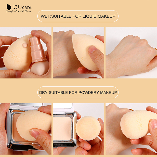 DUcare 1pcs Makeup Sponge Professional Cosmetic Puff For Foundation Concealer Cream Make Up Soft Water Sponge Puff Wholesale 5
