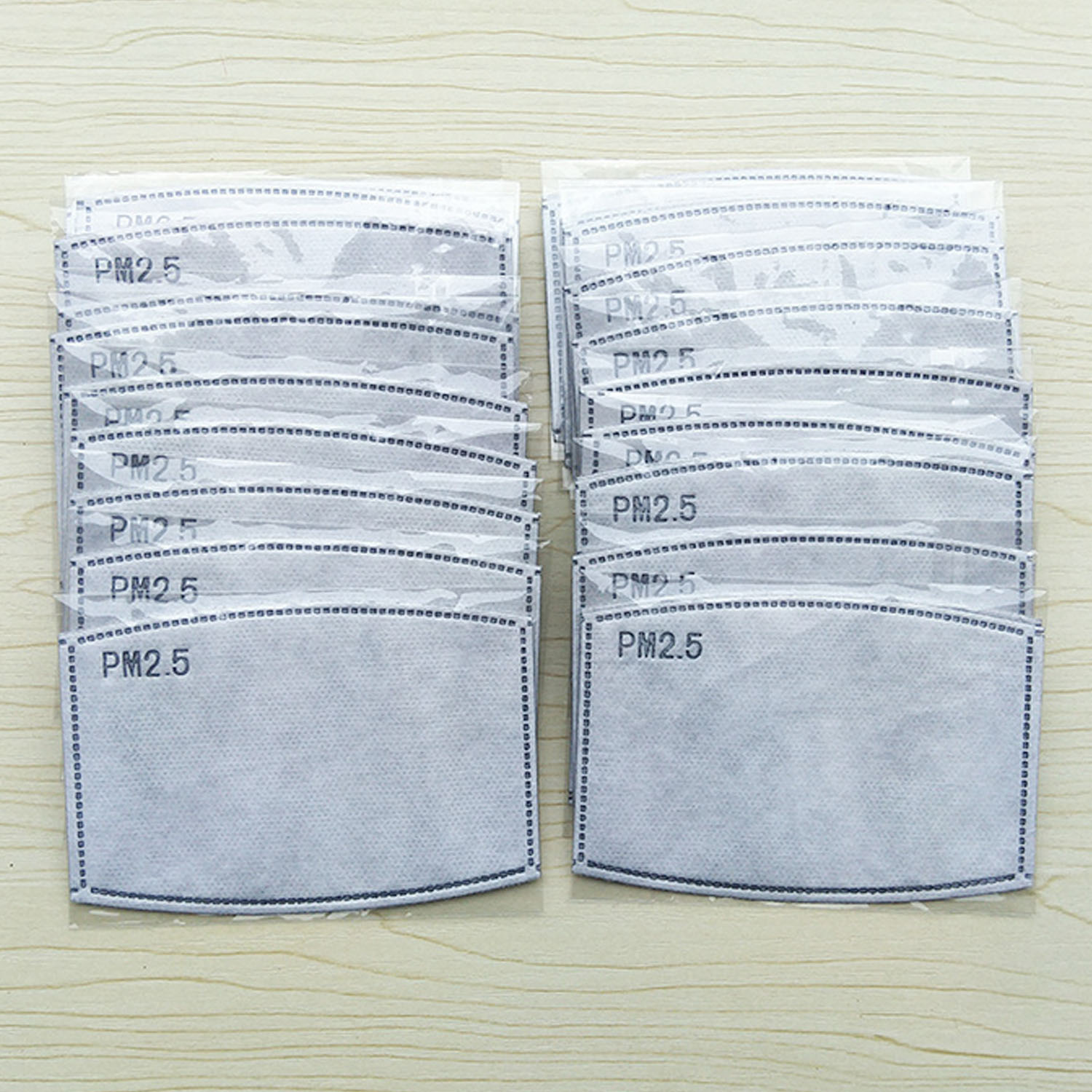 10PCS 5-Layer Anti PM2.5 Haze Activated Carbon Replaceable Face Mouth Mask Filter for Kids Children Filter Paper For Health Care 3