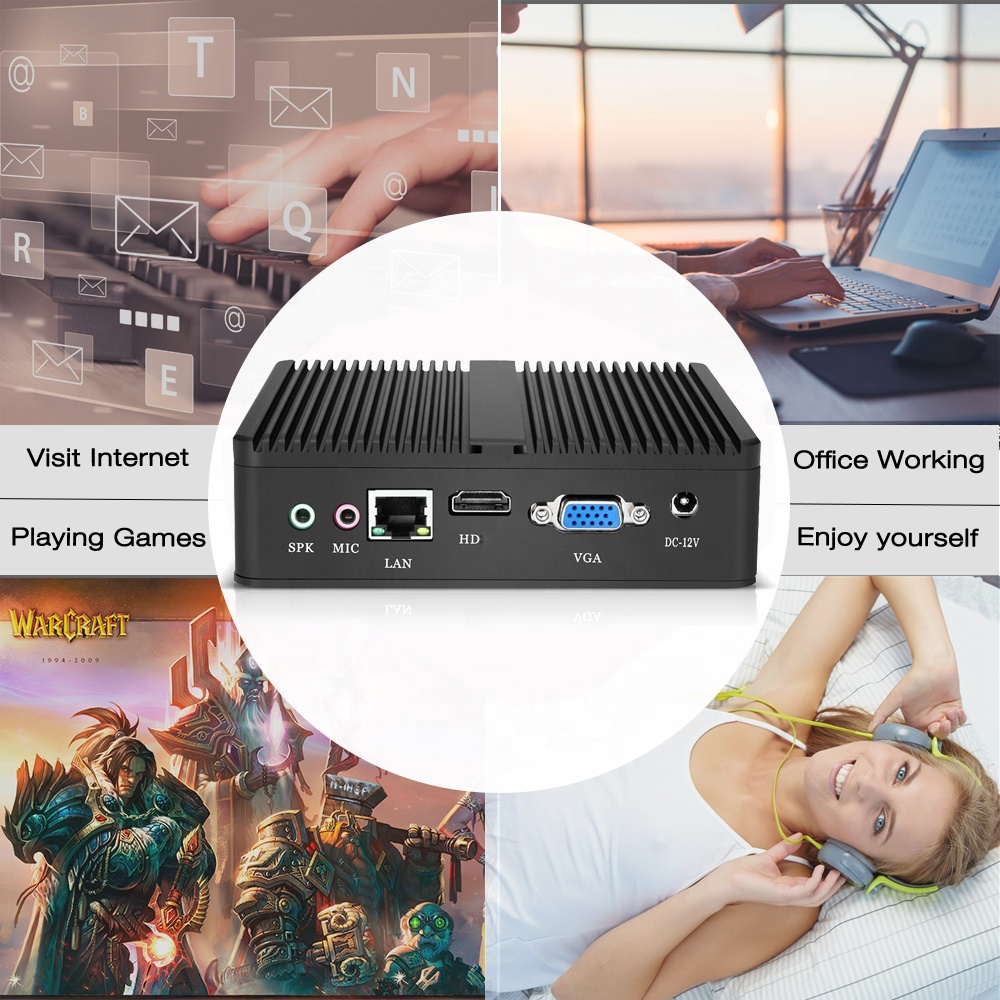 Digital Signage Mini PC Core I5 Win8.1server 4200Y Bilgisayar WI-FI 8G Ram 120G SSD Computer