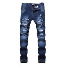 Cloudstyle New Men's Jeans Blue Slim Stretch Denim Casual Male Pant Fashion Long Trousers Jean Homme Regular Fit For Youth