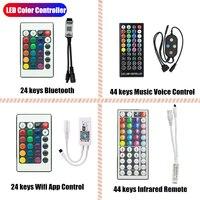 LED Farbe Controller WIFI Bluetooth Fernbedienung Led Für 12V 5050 2835 Streifen Licht Band Nacht Infrarot 24Key 44 schlüssel Konvertieren