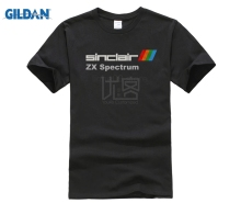 GILDAN SINCLAIR ZX SPECTRUM Retro 80s Personal Computer Black Cotton T-shirt 01431 Men Shirt Print Short Sleeve T-Shirt