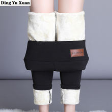 Женские зимние теплые ботинки с кашемиром; Леггинсы на подкладке