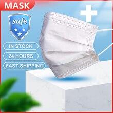 50 sztuk twarzy maski na usta przeciwkurzowe maska na twarz maska jednorazowa filtr 3 warstwy Anti maski przeciwpyłowe Earloops maska ochronna