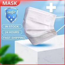 50Pcs פנים פה מסכות אנטי אבק פנים חד פעמית מסנן 3 שכבות נגד אבק מסכות Earloops מסכת מגן