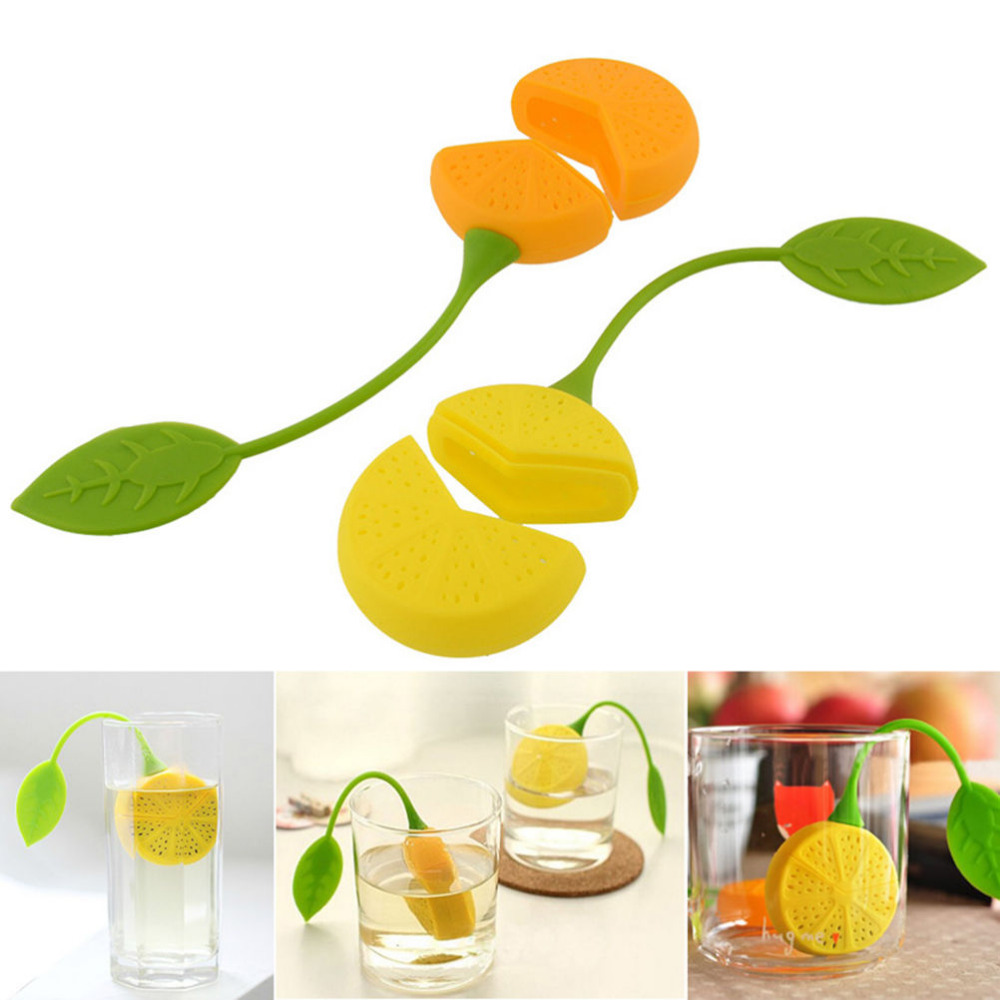 Lemon Silicone Drinker Teapot Teacup Loose Tea Strainer Herbal Spice Infuser Filter Tools