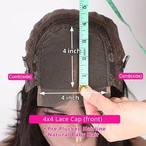 Image 5 - Perruques brésiliennes de fermeture de vague profonde perruques de cheveux humains de fermeture de dentelle pré plumées pour les femmes noires 150% perruques frontales de dentelle de vague profonde de Remy