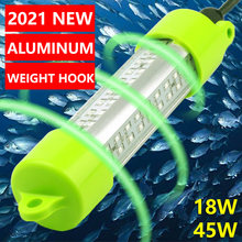 18W 45W Dc 12V Groen Wit Blauw Geel IP68 Aluminium High Power Led Vis Aantrekken Aas Dompelpompen onderwater Vissen Licht