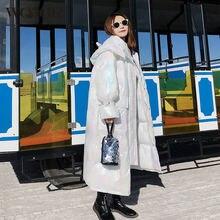 Новинка 2020 зимняя куртка wqjgr женские парки длинные рукава