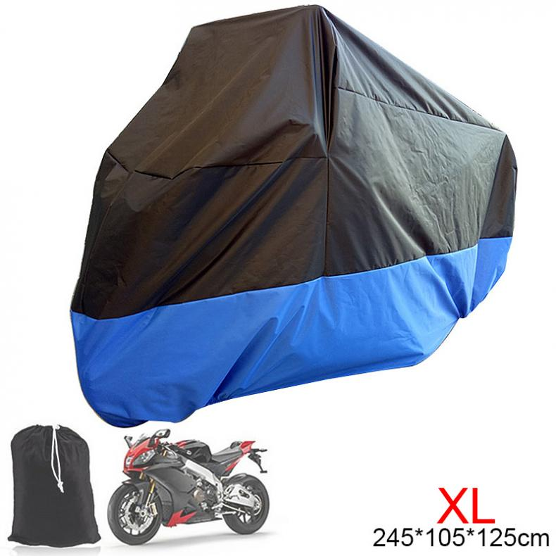 XL 180T Universal Motorcycle Cover UV Protector Waterproof Rain Dustproof Anti-theft Motor Scooter Covers For Motorbike
