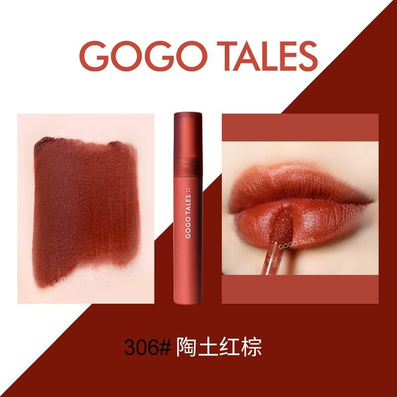 Gogo Tales Velvet Matte Lip Tint Brow Red Vampire Jujube Cherry Pigment Long Lasting Waterproof Liquid Lipstick BN224