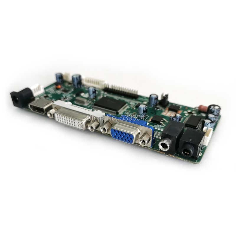 "Fit LM190WX1 LTM190M2 VGA HDMI DVI 1440*900 19 ""LVDS 30Pins toetsenbord kabel 4CCFL M. NT68676 lcd-scherm controller board DIY kit"