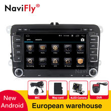 European warehouse Tax free 7inch 2din Car dvd for Volkswagen VW golf 5 6 touran passat B6 sharan jetta polo tiguan with mic(China)