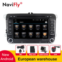 European warehouse Tax free 7inch 2din Car dvd for Volkswagen VW golf 5 6 touran passat B6 sharan jetta polo tiguan with mic