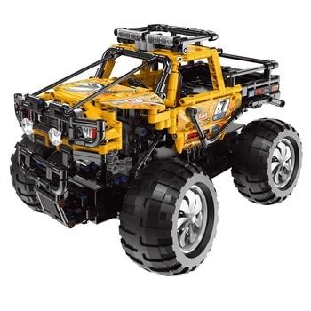 In Stock 22003 Technic Building Blocks Remote Control Racing Car Off-road Vehicle RC Block Bricks Toys  Octonauts  Micro Block