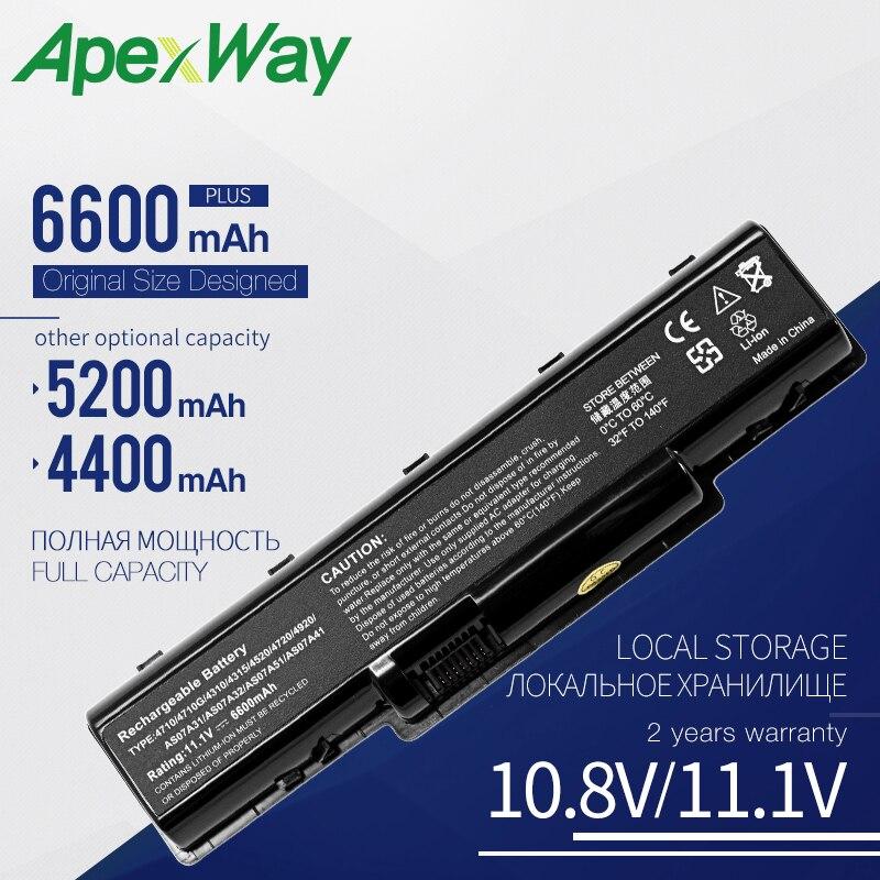 Apexway batterie für Acer Aspire 4720G 4720Z 4720ZG 4730 4730Z 4730ZG 4736 4736G 4736Z 4736ZG AS07A51 BT. 00606,002 BT. 00607,012