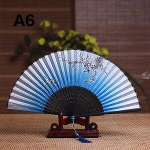 Image 4 - Seide Weiblichen Fan Chinesischen Japanischen Stil Klapp Fan Hause Dekoration Ornamente